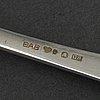 Bestickservis, 77 delar, silver, modell chippendale, gab, 1930 tal