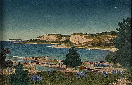 Oskar bergman, olja på duk, signerad och daterad 1921