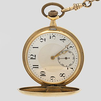 A 14K gold pocket watch 50 mm total weight 86,2 gr.