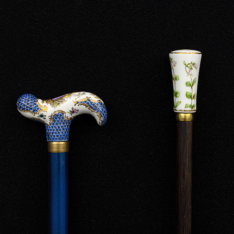 A set of two 20th century canes