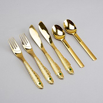 GUNNAR CYRÉN, 36 pieces fish cutlery model Nobel for Gense.