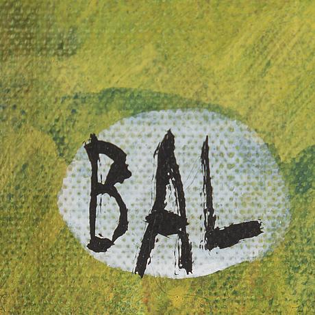 Bengt arne linderos, akryl på duk, signerad bal.