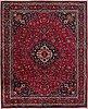 A carpet, semi antique masahad, ca 384 x 306 cm