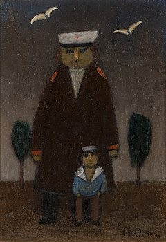 NIKOLAI LEHTO, oil on board, signed and dated -83.