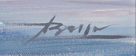 Chingiz arif oglu abassov, öljy kankaalle, signeerattu