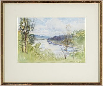 ANNA GARDELL-ERICSON, watercolour, unsigned, authenticated verso.