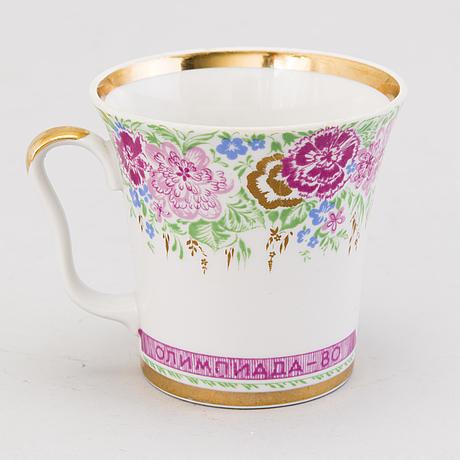 Kaffekopp, porslin, lomonosov, sovjetunionen 1980