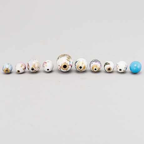 A set of ten russian porcelain easter eggs from the end of the 19th century