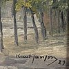 Knut janson, oil on prepared academy board, signed knut janson and dated -29.
