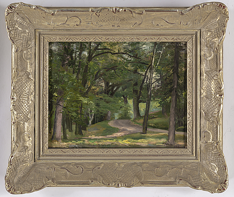 Knut janson, oil on panel, signed k. janson and dated 1924.