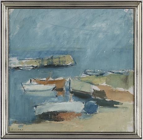 Gustav rudberg, oil on canvas, signed rudberg