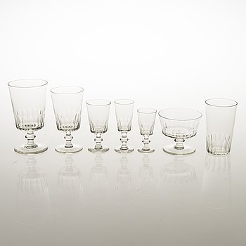 A mid-20th Century 80-piece set of glassware.