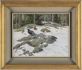 THURE WALLNER, oil on panel, signed.
