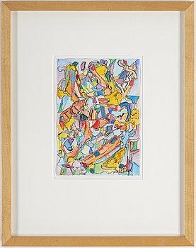 LARS VILKS, watercolour and ink, signer Lars Vilks.