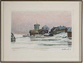 ROLAND SVENSSON, färglitografi, signerad roland s och numrerad 195/350 med blyerts.