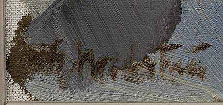 Gerhard nordstrÖm, olja på pannå, signerad