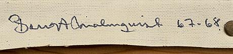 Bengt malmquist, olja på duk, signerad a tergo, 67 68