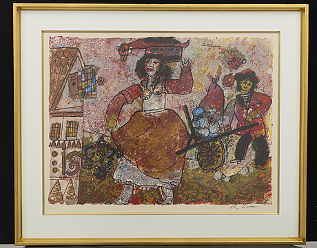Theo tobiasse, a signed and numbered lithograph
