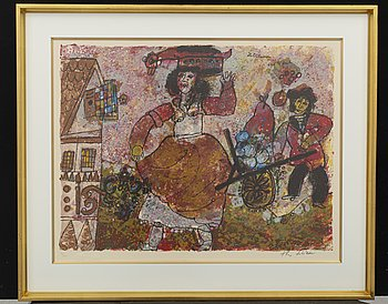 THEO TOBIASSE, litografi, signerad och numrerad 86/350.