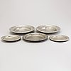 Five pewter dishes, 19th century