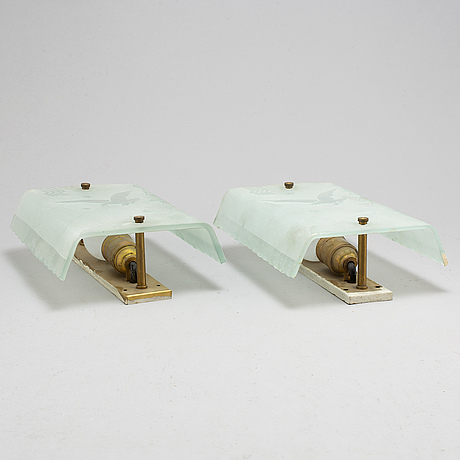 VÄgglampor, ett par, art déco, 1930 tal