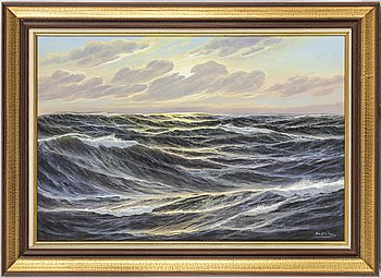 LOTHAR SCHLÜTER, oil on canvas, signed.