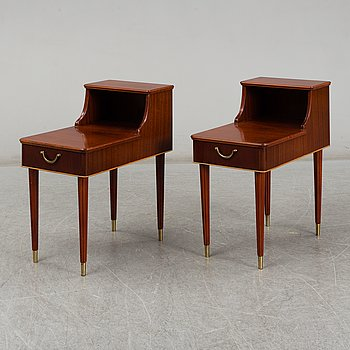A pair of late 20th Century bedside tables.