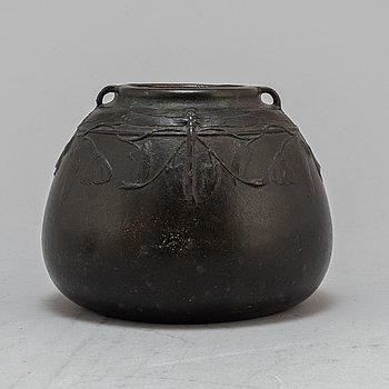 HUGO ELMQVIST, an Art Nouveau bronze vase, early 20th Century.