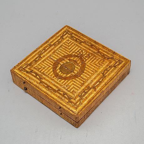 Skrin, halmarbete, sengustavianskt, omkring 1800
