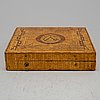 A late gustavian straw box, circa 1900