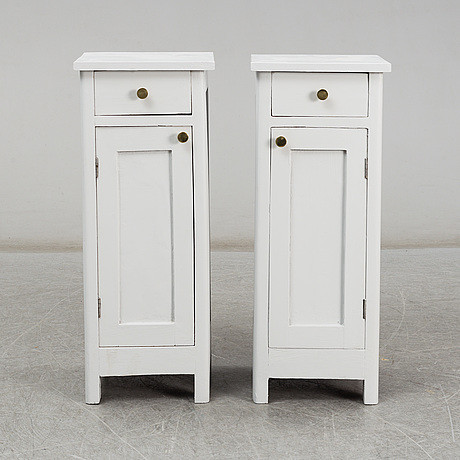 A pair of mid 20th century bedside tables