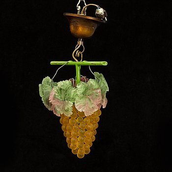 a 1920's glass ceiling pendant, Murano Italy.