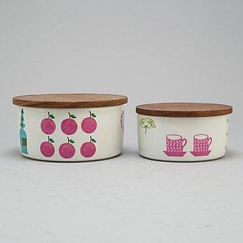 STIG LINDBERG, a set of two 'Pynta' bowls, Gustavsberg.