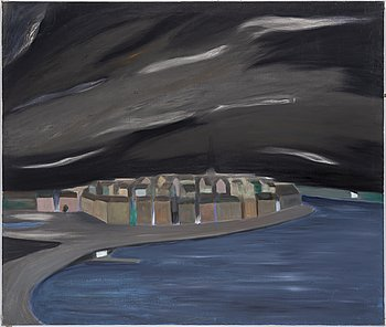 Jan Liljeqvist, oil on canvas, verso authenticated by the artist's niece.