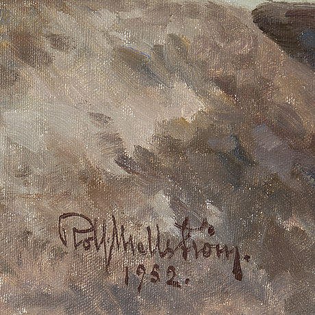 Rolf mellstrÖm, oil on canvas, signed rolf mellström and dated 1952