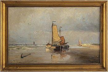 CHRISTIAN FREDRIK SWENSSON, olja på duk lagd på pannå, signerad C.F. Swensson.