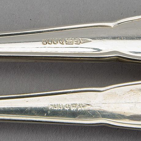 Bestick 61 dlr chippendale silver tyskland 1900-talets första hälft.