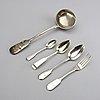 Bestick 34 dlr silver ryssland 1800 talets andra hälft