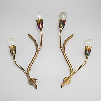 a pair of mid 20th century wall lamps.