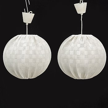 a pair of 1950's ceiling lamps.