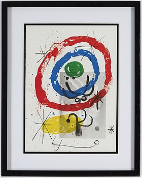 JOAN MIRÓ, color litograph, from Derrière le Miroir nr 151-152, 1965.