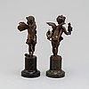Skulpturer, ett par. karl reinert (1870 ?), brons, signerade och daterad  90