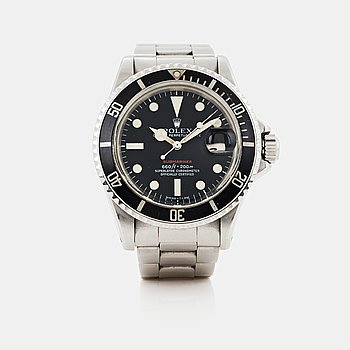 "8. ROLEX, Submariner, ""Red Mark V""."