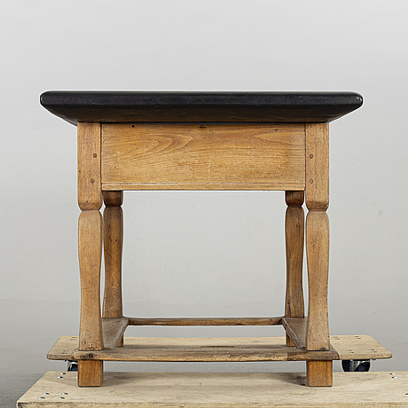 A stone top table, 19th century