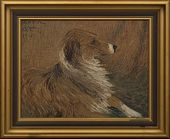 OLOF THUNMAN, oil on board, signed and dated 1911.