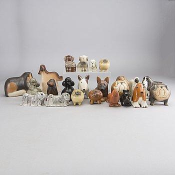 LISA LARSON, 23 stoneware figurines, Gustavsberg, Sweden.