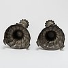 Ljusstakar, ett par, tenn, rokoko, 1700-tal.