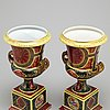 A pair of porcelain vases, northen europe 20th century
