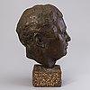 Raimo utriainen, bronze, signed and dated -54.