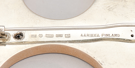 A brooch, silver. aarikka, finland 1972